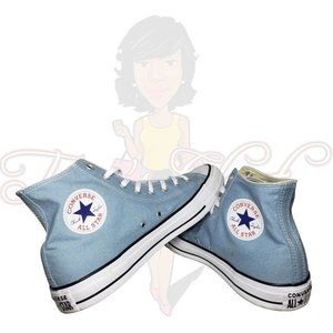 Converse All Star Blue Canvas Lace Up High Tops